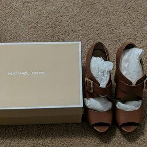 Michael Kors brown shoes